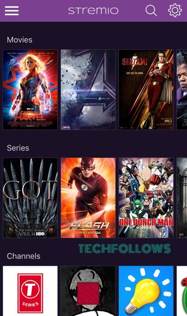 Stremio Movies on iPhone & iPad
