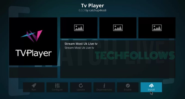 TV Player Kodi Addon