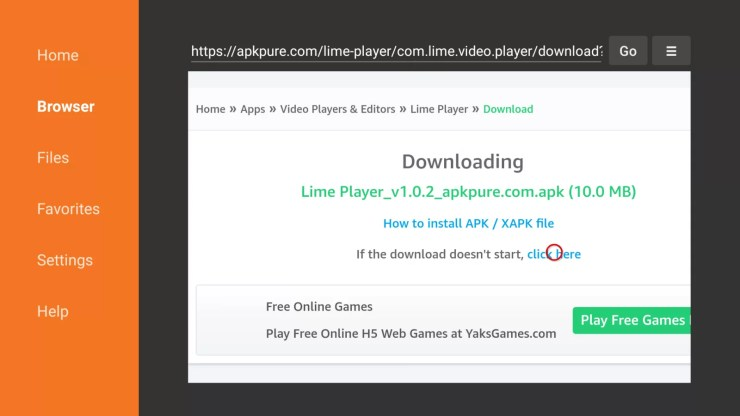 How to install Lime Player for Firestick