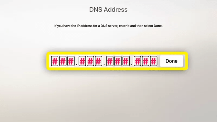 Enter DNS Address