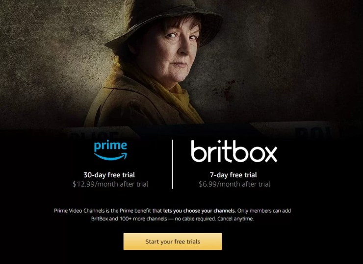 Sign Up for Britbox