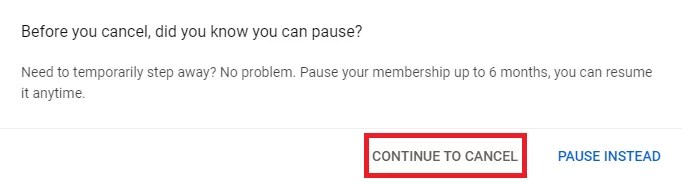 Cancel YouTube Subscription on PC