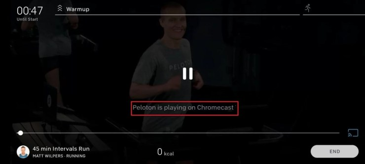 Chromecast Peloton Classes using Android and iOS