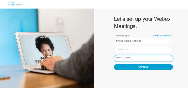 Setup Webex Meetings