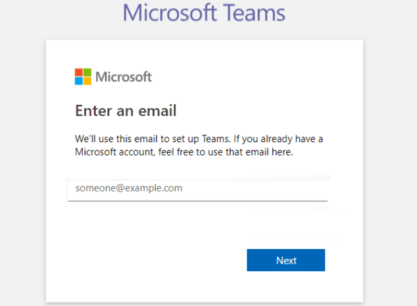 Enter Microsoft Account