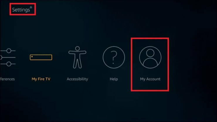 Register Firestick with Amazon account