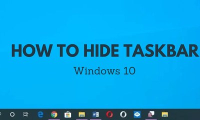How to Hide Taskbar in Windows 10