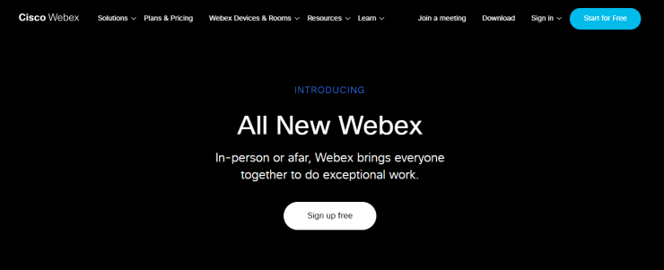 Cisco Webex Meetings in PC