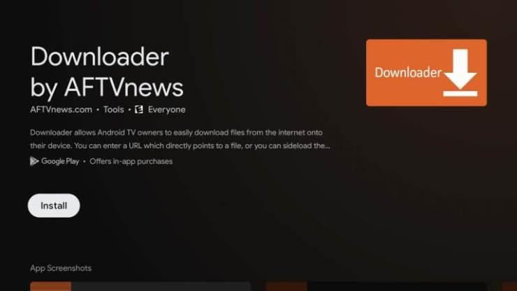 Downloader app to Sideload Apps on Chromecast With Google TV