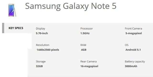 samsung galaxy note 5 specification_techtrainindia.JPG