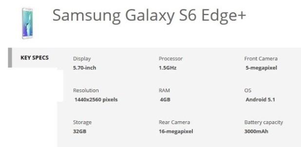 samsung galaxy s6 edge+ specification_techtrainindia