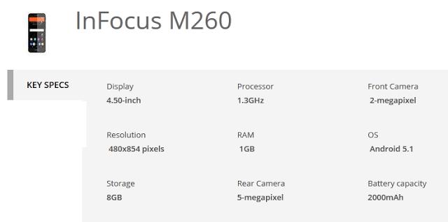 infocus_m260_specs