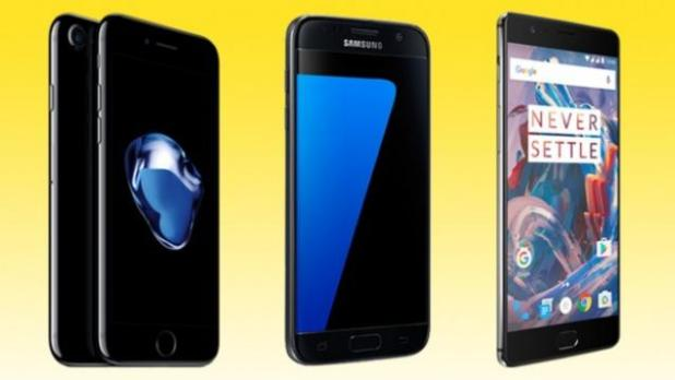 iPhone7-vs-GalaxyS7-vs-OnePlus3-techfoogle