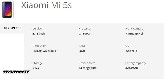 xiaomi-mi-5s-specs-techfoogle