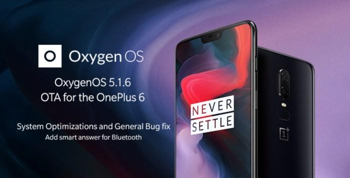 OnePlus 6 OxygenOS