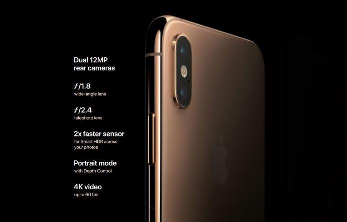apple iphone xs camera