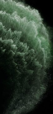 iphone-11-green-particles-wallpaper