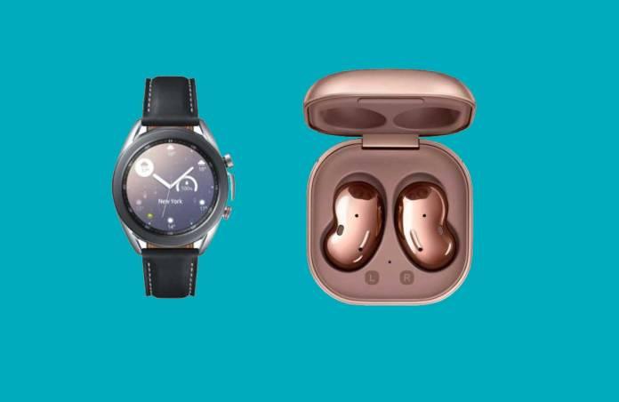Samsung Galaxy Watch 3 and Galaxy Buds Live