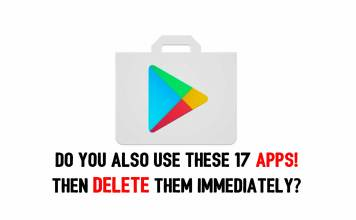 Do you also use these 17 apps, then delete them immediately?