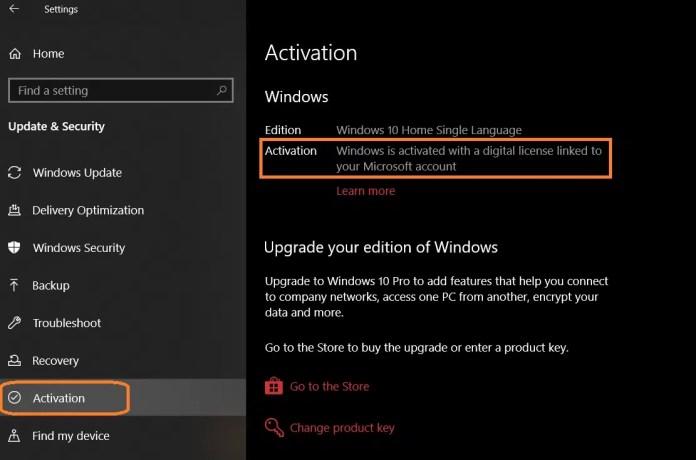 windows 10 activation check