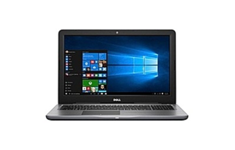 Featuring a high-speed processor and large hard drive, this Dell Inspiron 15 5000 Series I5567-7161GRY laptop has the tools you need to power through your workload, even while on the road. A built-in IR camera helps you communicate with colleagues and clients when away from the office.