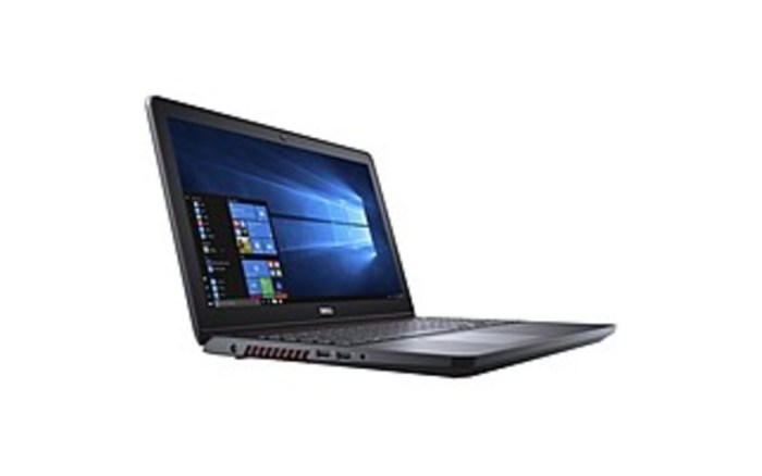 Engineered with the specific, demanding needs of the gaming audience in mind, the Dell 15.6-inch Inspiron 15 5000 Series I5577-5328BLK-PUS Gaming Notebook PC supports gaming and high-performance graphics, plus features a cooling system that helps promote uninterrupted gameplay. It is powered by a 2.5 GHz Intel Core i5-7300HQ Quad-Core processor that allows you to run multiple applications simultaneously. The processor also features a boost speed of up to 3.5 GHz and the system's 8 GB of 2400 MHz DDR4 RAM, which may be upgraded to 32 GB, allows the computer to quickly access frequently-used files and programs, as well as help to ensure efficient multitasking.