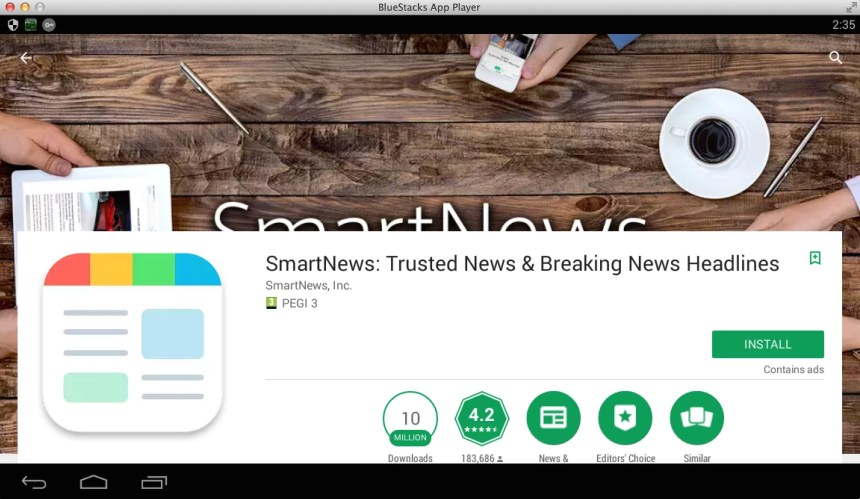 smartnews-pc-using-bluestacks