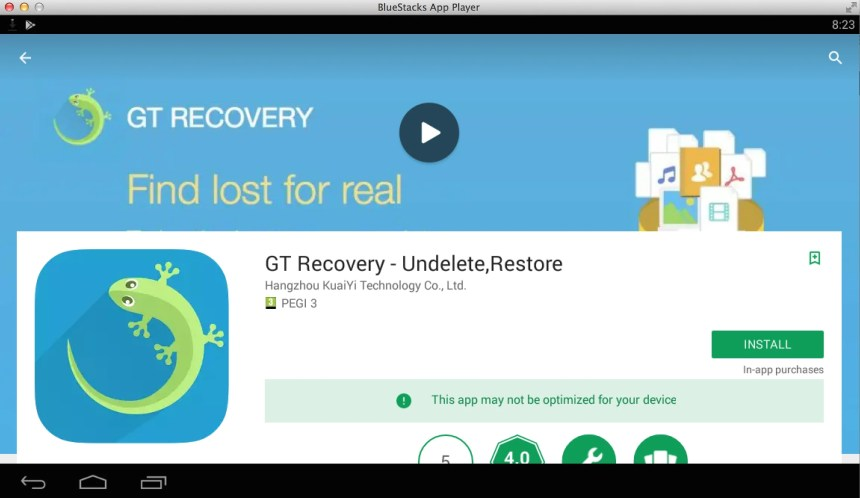 GT Recovery App for PC