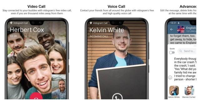 vidogram-app-screens