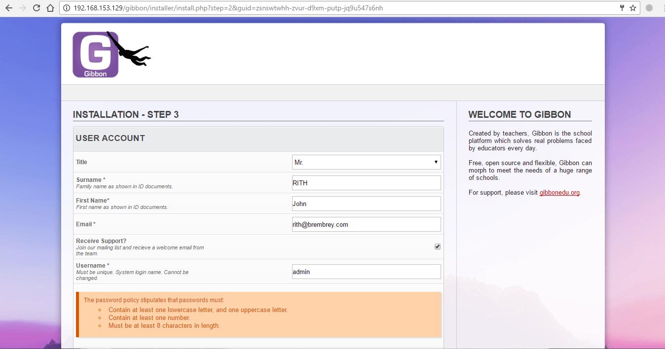 setuppassword
