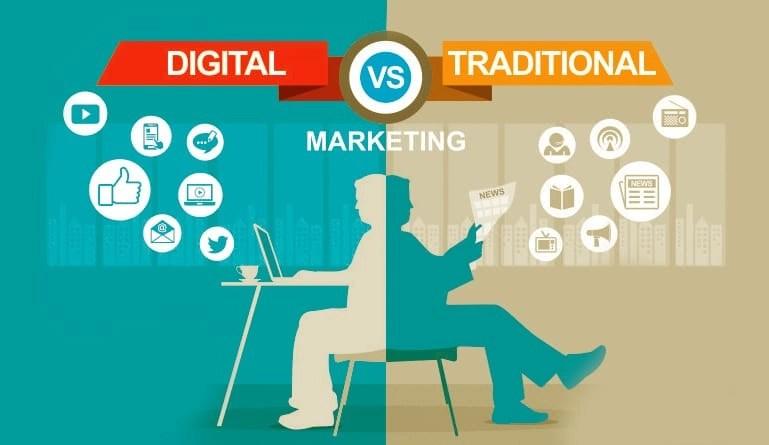 traditional media vs new