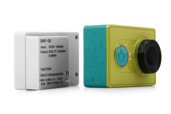 Xiaomi Yi 2400mAh Battery Pack + extended case