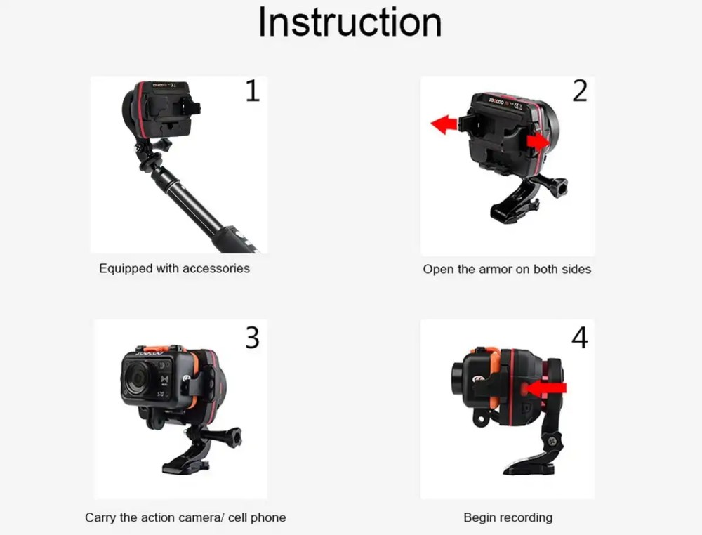 1 axis gimbal for action cam soocoo ps1 stabilizer. Black Bedroom Furniture Sets. Home Design Ideas