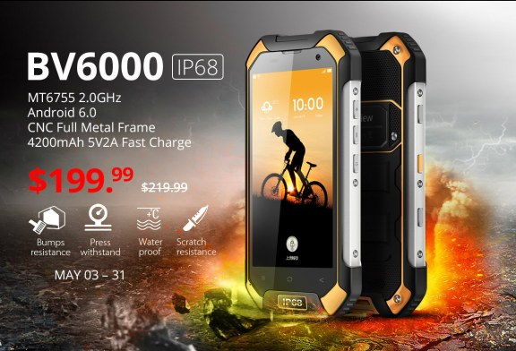 Blackview BV6000 4.7″ Android 6 4G Waterproof Smartphone review
