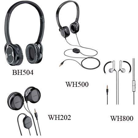 Nokia BH-504, WH-500, WH-202 and WH-800 Headphones