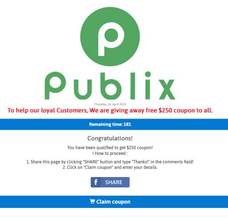 Publix scam 2