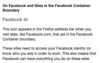 Facebook container FAQ 2