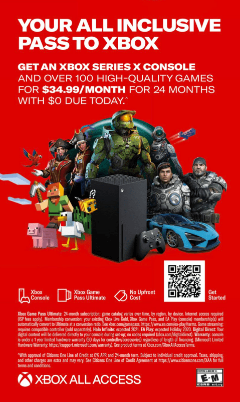 Xbox Monthly Payment