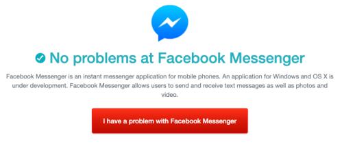 FB messenger back up