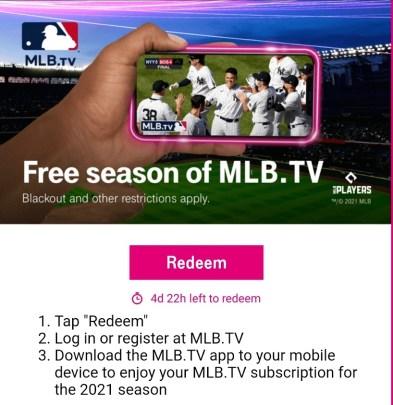 MLB TV 2021 Redeem