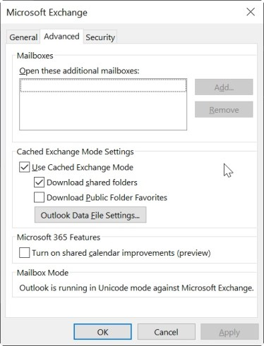 outlook add acct