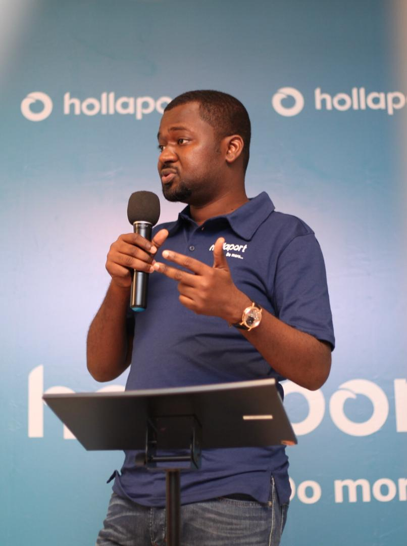 Hollaport founder at the media launch