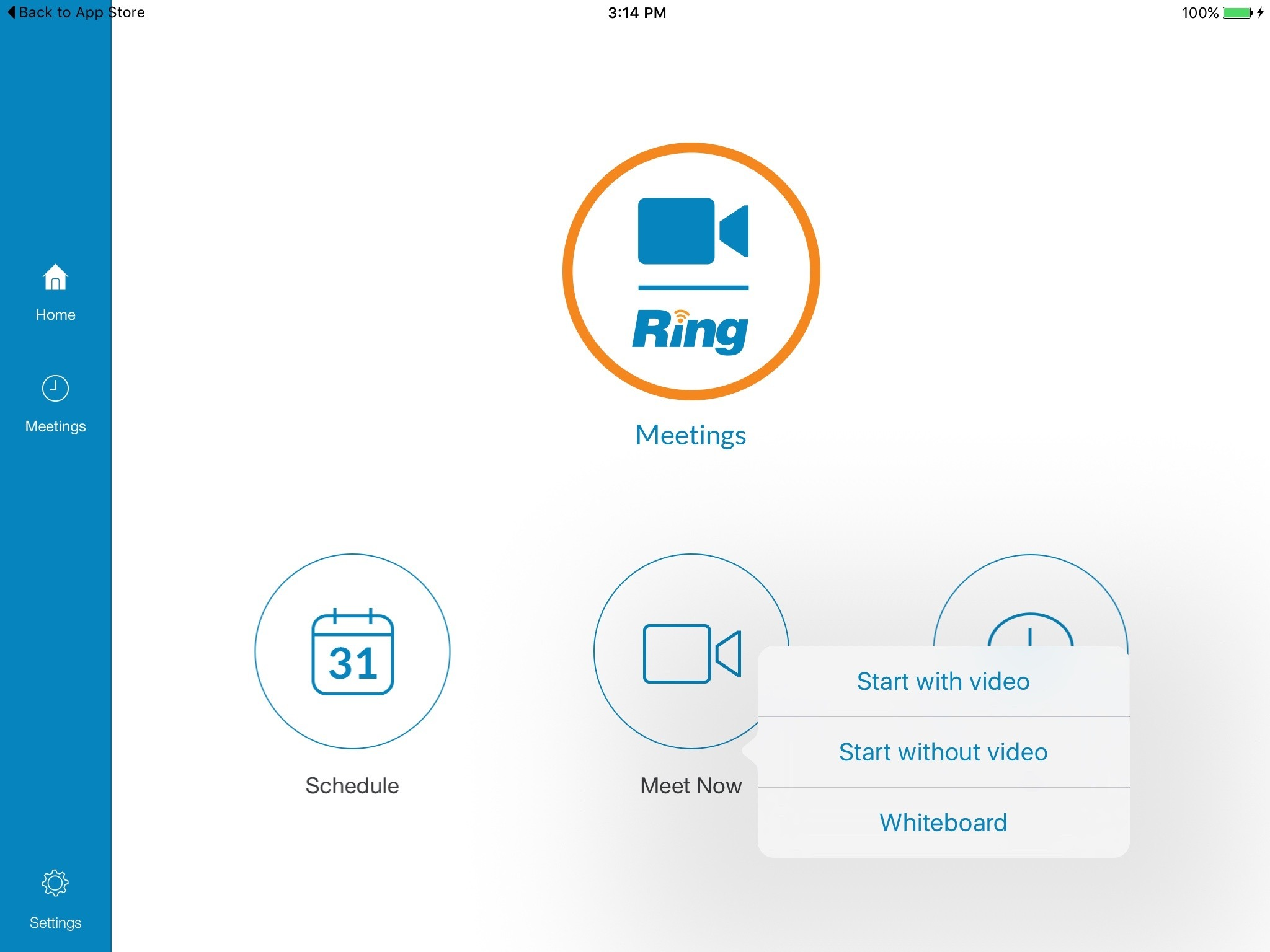 RingCentral Meeting video calling app