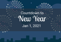 countdown for 2021 new year