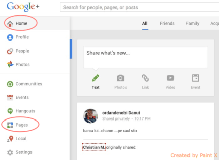 Google Plus page creation guide step 1