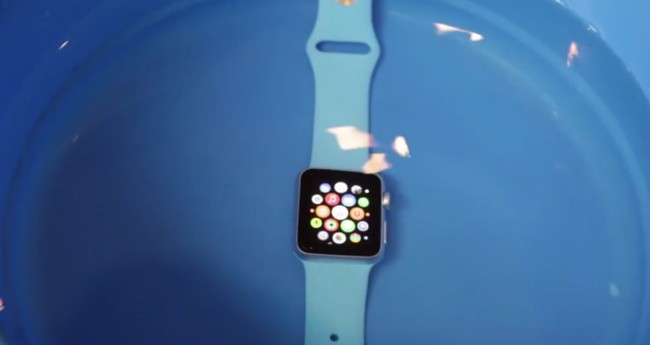 Apple watch water proof test