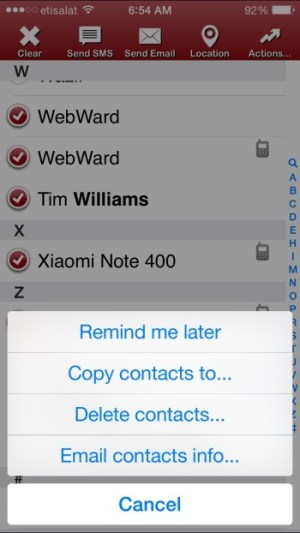 how to delete multiple contacts on ios 8 at once