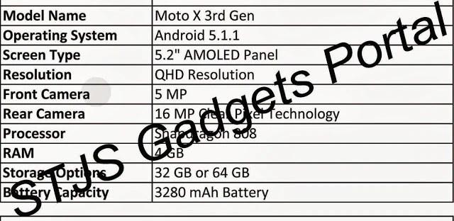 Moto X 3rd Generation