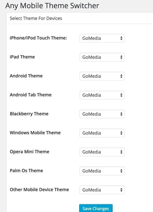Optimize Wordpess Blog for mobile using any mobile theme