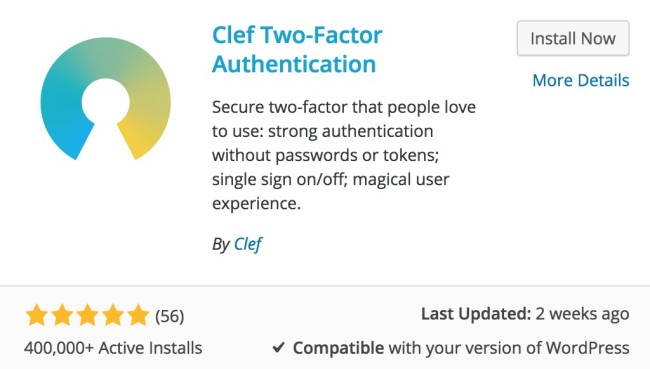 Passwordless wordpress login with clef
